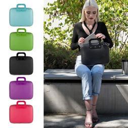"""10"""" -15"""" Leather Laptop Shoulder Bag Carry Case For MacBook"""