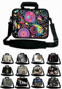 """10"""" - 17"""" LUXBURG Laptop Case Bag Cover Pouch Skin With Hand"""
