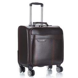 100% PU Leather <font><b>Rolling</b></font> Spinner Luggage