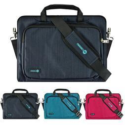 """11.6"""" - 12"""" Luxury Ultrabook Laptop Sleeve Messenger Handle"""