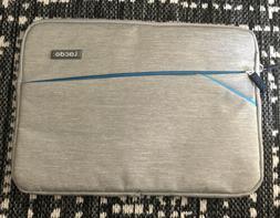 "Lacdo 12.9"" Laptop Sleeve Case ... Gray w/ Sea Blue Trim &"