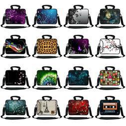 "13"" 13.3"" Neoprene Laptop Bag Case Sleeve w. Pocket Handle &"