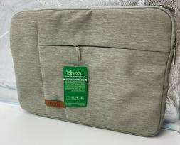 Lacdo 13 inch Laptop Sleeve Case for 13 inch Green Beige