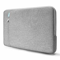 Tomtoc 13 inch Laptop Sleeve Case Gray Shockproof With Acces
