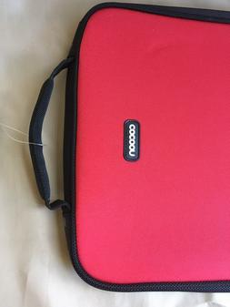 """13"""" Red Neoprene Laptop Case Sleeve by Cocoon NWT"""
