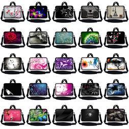 """14.1"""" 14"""" Laptop Sleeve Bag Case w Shoulder Strap and Handle"""