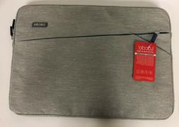 "Lacdo 14""-15"" Case Bag Gray Blue Zippered Laptop Sleeve Tabl"