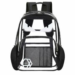 15-15.6 Inch Laptop Backpack Transparent School Bookbag PVC