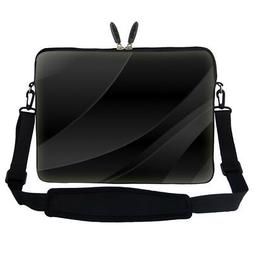"15.6"" Laptop Computer Sleeve Case Bag w Hidden Handle & Shou"