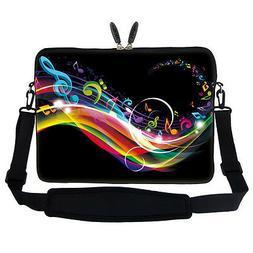 "15.6"" Laptop Computer Sleeve Case Bag w Hidden Handle & Shou"