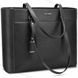 "16.5"" Large Women Office Bag PU Briefcase Laptop Tote Case C"
