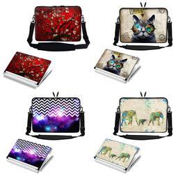 """17"""" 17.3"""" Laptop Computer Case Bag with Shoulder Strap & Mat"""