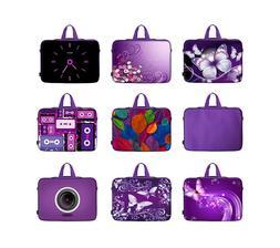 "17"" 17.3"" Laptop Sleeve Bag Case w. Hidden Handle - Purple C"