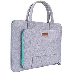 Ropch 15.6-Inch Felt Laptop Sleeve with Handle Notebook Comp