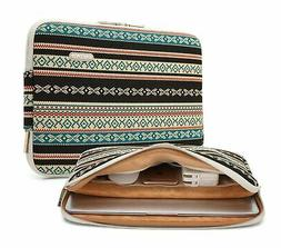 KAYOND 17 Inch Laptop Sleeve-Bohemian Canvas Water-Resistant