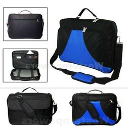 18 18.4 Inch Laptop Messenger bag case briefcase Blue Black