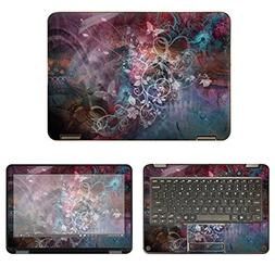 Decalrus - Protective Decal Floral Skin Sticker for Lenovo N