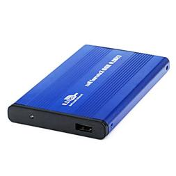 HDE USB 2.0 Aluminum External Hard Drive Enclosure Case Supp