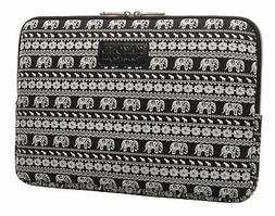 KAYOND Canvas Fabric 10 inch laptop Sleeve case-Elephant pat