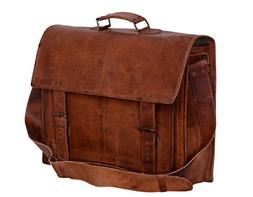 "Komal's Passion Leather 16"" Sturdy Messenger Bag for Laptop"