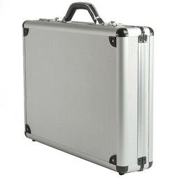 Alpine Swiss Aluminum Attaché Case Padded Laptop Briefcase
