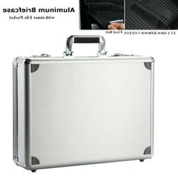 Aluminum Hard Briefcase Shockproof Laptop Business Carrying