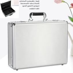 Aluminum Hard Briefcase Shockproof Laptop Carrying Case Lawy