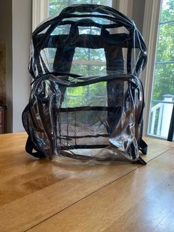 AMAZON BASICS PLASTIC CLEAR  BACKPACK