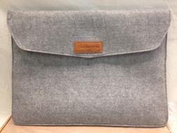 AmazonBasics 13-Inch Felt Laptop Sleeve Case Cover Light Gre