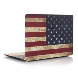 """American Flag Cover Soft-Touch MacBook Pro 13"""" A1932 Case Fr"""