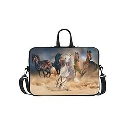 InterestPrint Animal Horse Laptop Sleeve Case Bag, Horse Sho