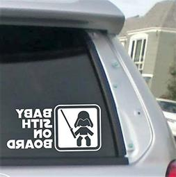 "Baby Sith on BOARD Lightsaber- 6"" wide  decal laptop tablet"