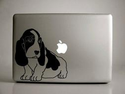 "Basset Hound Decal for 13"" Macbook"