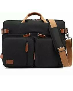 Coolbell Black Convertible Backpack Messenger Bag Canvas Up
