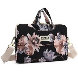 Dachee Black Lotus Patten Waterproof Laptop Shoulder Messeng