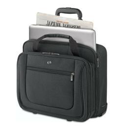 SOLO Black Midtown Bryant Laptop Rolling Briefcase Case