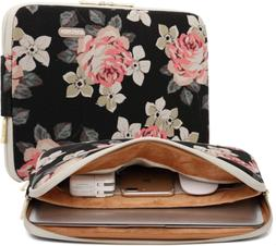 kayond Black Rose Patten canvas Water-resistant 17 Inch Lapt