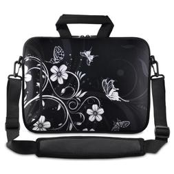Black and White Flower 13-Inch 13.3-Inch Notebook Laptop Sho