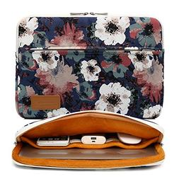 Canvaslife Blue camellia pattern 360 degree protective 13 in