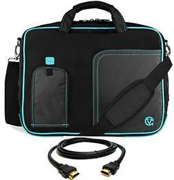 VanGoddy Blue Trim Laptop Bag for Dell Latitude / Inspiron /
