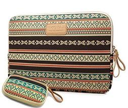 Kayond Bohemian Canvas Water-resistant Sleeve with a Storage