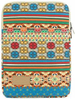 Kinmac Bohemian Canvas Vertical Style Laptop Sleeve with Poc