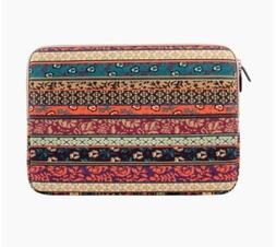 Plemo Bohemian Style Sleeve Canvas Fabric Carrying Notebook