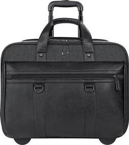 "SOLO Bradford Collection 17.3"" Rolling Laptop Briefcase EXE9"