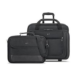 Solo Bryant Rolling Laptop Case and Slim Brief Bundle