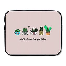 Business Briefcase Sleeve Cute Cactus Pattern Laptop Sleeve