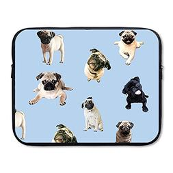 Summer Moon Fire Business Briefcase Sleeve Cute Pug Laptop S