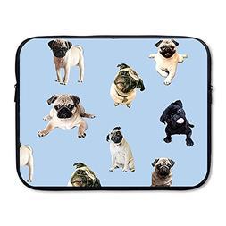 business briefcase sleeve cute pug
