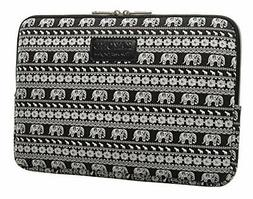 KAYOND Canvas Fabric 10 inch laptop Sleeve case-Elephant pat