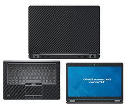 Decalrus - Dell Latitude E5450  laptop BLACK Carbon Fiber sk
